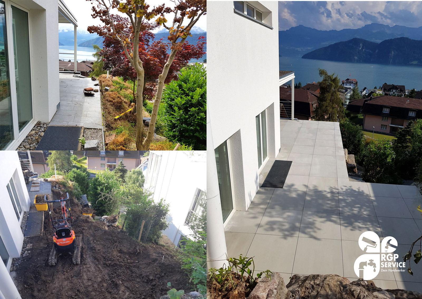 Garten Arbeiten Steinterrasse